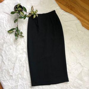 50s Mid calf Pencil Skirt Black